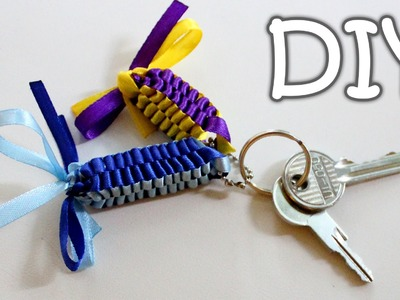DIY Ribbon Keychains - How to Make a Ribbon Pendants