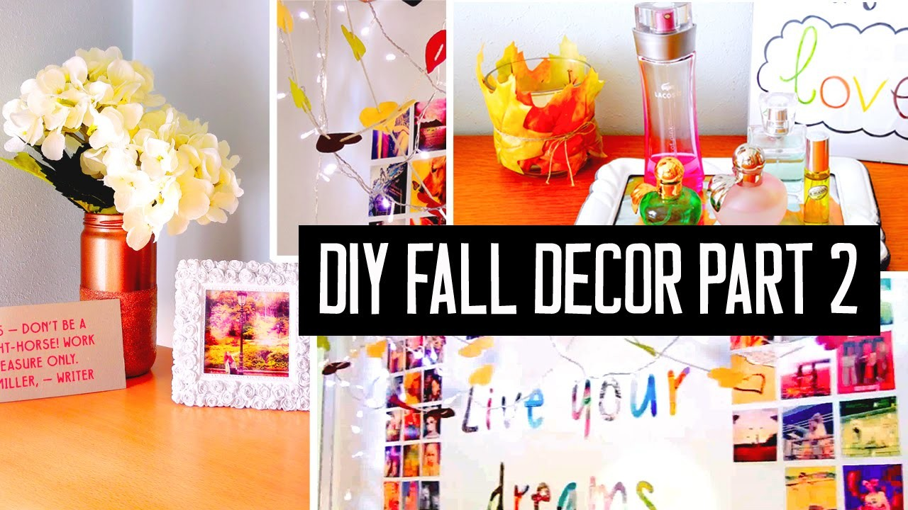 DIY room decor for fall! Spice up your room with cheap Tumblr decorations & more!