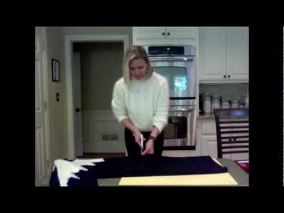 DIY sweater dress refashioning project