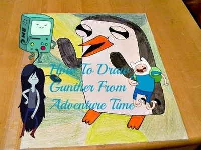 Diy-Tutorial:How To Draw And Color  Gunter From Adventure Time (1st Drawing video)