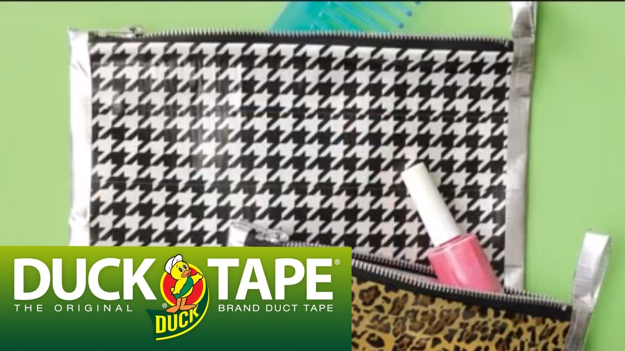 Duck Tape Craft Ideas: How to Make a Zippered Bag