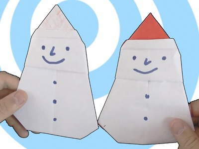 Easy origami snowman tutorial
