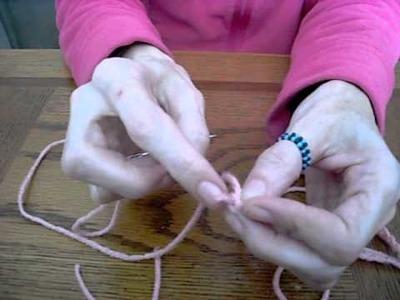 Finger Crocheted Flower Tutorial