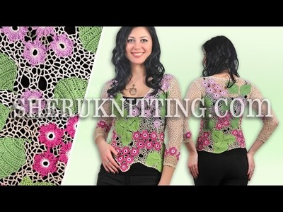 Floral Irish Crochet Lace Blouse Model 26 Irish Crochet Free Patterns