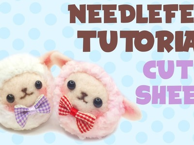 Fluffy Sheep Twins   Needlefelt Tutorial + Giveaway (CLOSED)