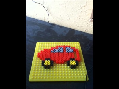 Fun with HAMA beads - Episode 1: Car, Boat, and Weird Monster Thing.