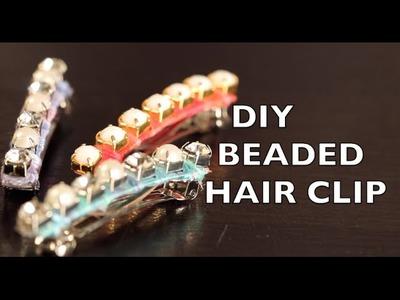 Hair Clip - DIY How To Make A Beaded Clip