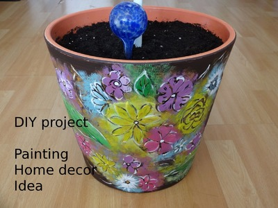 Home Decor How to paint flowerpot DIY Project touch of color