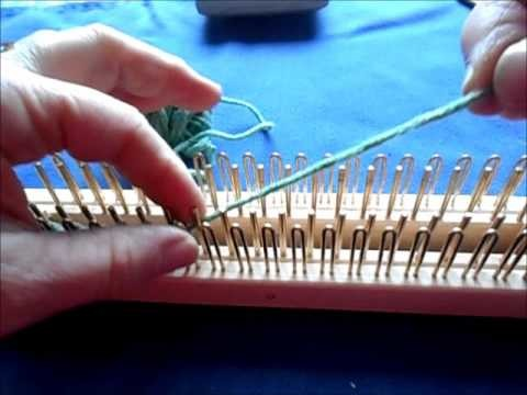 How do I use my regular 2 way loom-- 9 long tail cast on and working around the end