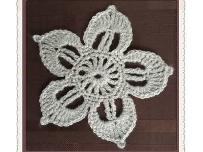 How to Crochet a Flower Pattern #36  │by ThePatterfamily