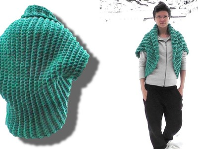 How to crochet a shrug for lefties - © Woolpedia