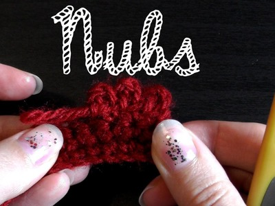 How to crochet nubs for lefties