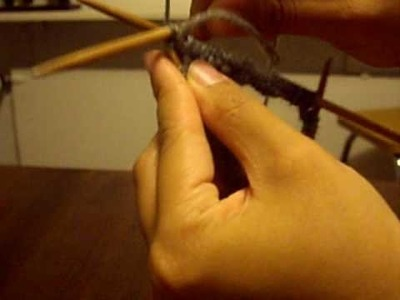 How to Knit a Rib with Double Pointed Needles