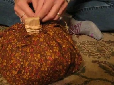 How To Make A Fabric Pumpkin - Simple Craft!