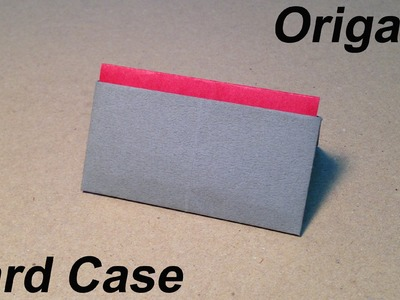 How to Make a Paper Card Case. Origami Card Case. Easy for Children