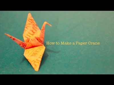 How to Make a Paper Origami Crane: a MaceyLou Tutorial