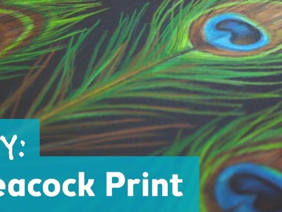 How to Make a Peacock Print Pattern