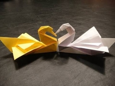 How to make an origami swan (Easy Tutorial)