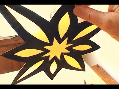 How to Make an Origami Window Star - falte Dir Deinen Origami Fensterstern!