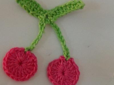 How To Make Crochet Cherry Applique-1