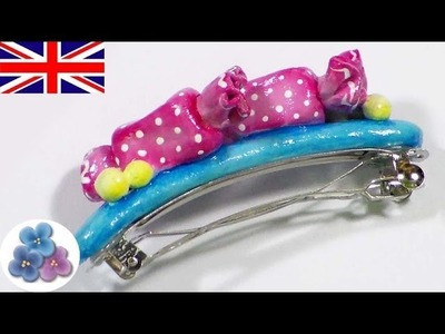 How to make Hair Clips with Air Dry Clay DIY Hair Accessories for Girls Polymer Clay Fimo Mathie