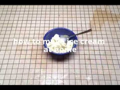 how to make veg ice cream at home