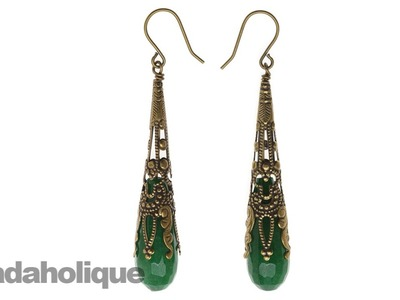How to Make the Filigree Drop Earrings