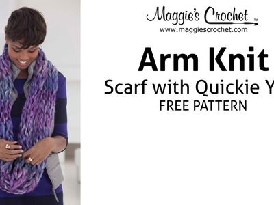 Lion Brand Quickie Arm Knit Scarf Pattern