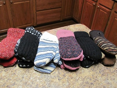 Make mittens from old sweaters - Fast and Easy!