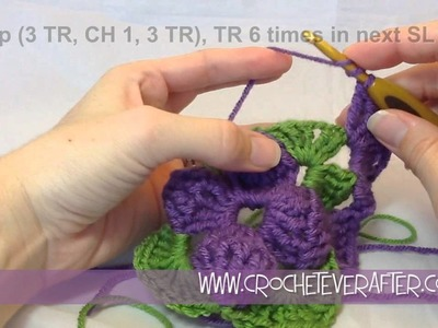 Motif of the Month May 2013 3D Granny Square Part 3 (Includes free pattern for bag)