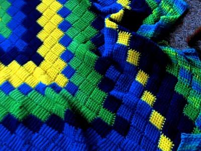 My Entrelac Crochet Blanket