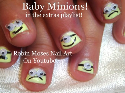 Nail Art Tutorial | DIY Easy Minion Nail Design for Children!