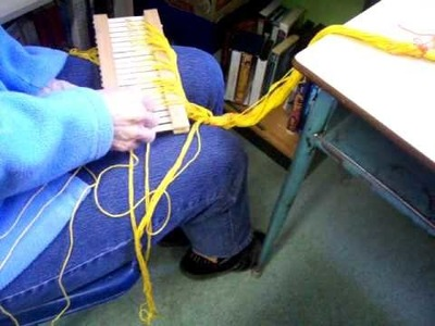 Nancy Today: How to make a loom 4- The backstrap loom, rigid heddle loom ASMR weaving