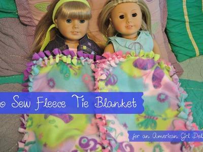 No Sew Fleece Tie Blanket | DIY Blanket for American Girl Doll