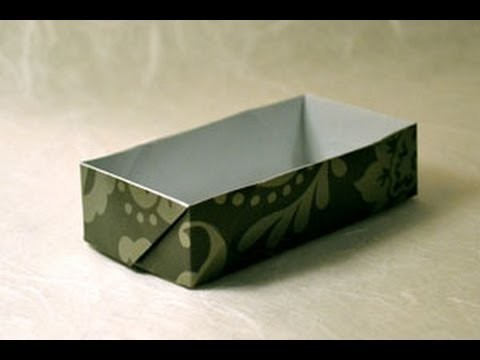 Origami Rectangular Box Instructions: www.Origami-Fun.com