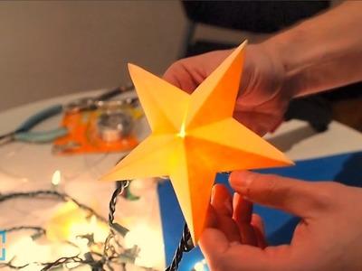 Papercraft Star Lantern on Make: Live ep22