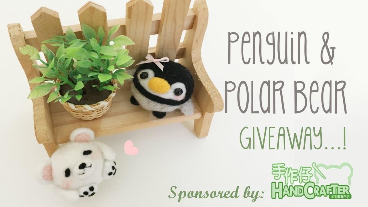 Penguin & Polar Bear Needle Felt Tutorial & GIVEAWAY [CLOSED]