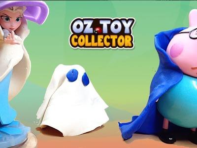 Peppa Pig Play Doh Halloween Party Ft.  Frozen Queen Elsa DIY Halloween Costume