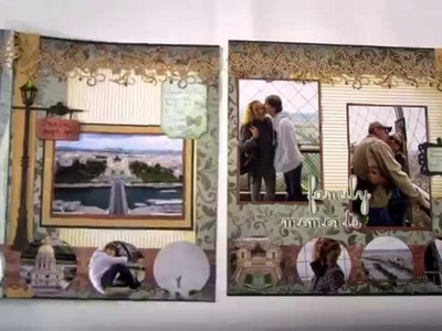 Power Scrapbooking Layouts Video 4: Interactive Paris and Italy 12x24 scrapbook Pages