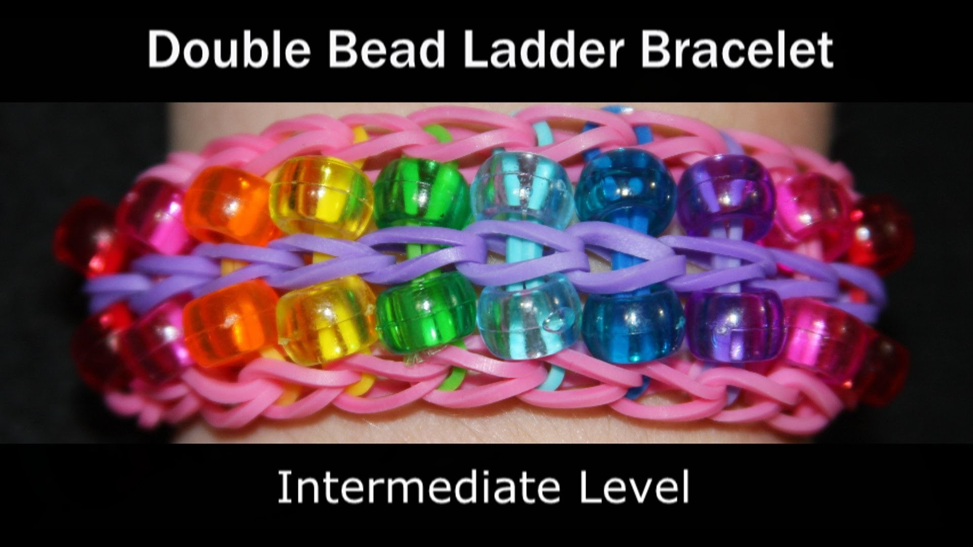 Rainbow Loom® Double Bead Ladder Bracelet