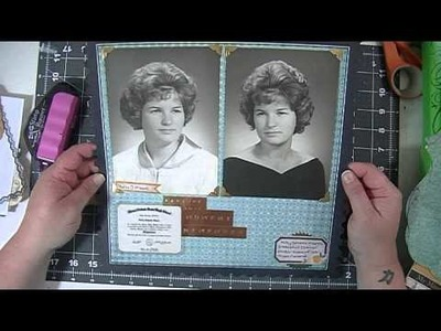 Scrapbooking Process Video: Scrapping Vintage Photos Video One