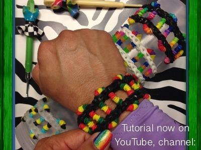 Sidewinder Bracelet On Rainbow Loom