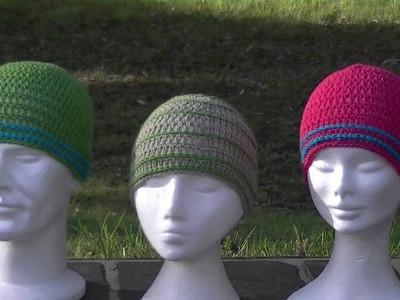 Skinny Stripes Crochet Hat Tutorial