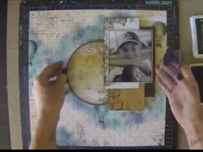 Step by Step tutorial Live laugh love layout for The Scrapbook Store