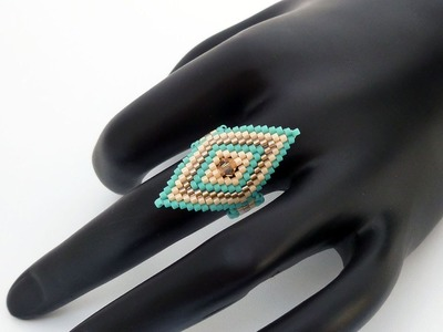 TheHeartBeading: Brick Stitch Ring Tutorial