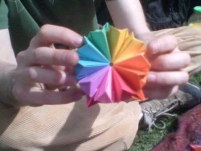 Origami Transforming Rose Cube