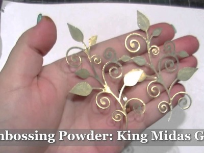 Using Common Craft Supplies to Turn your Embellishments GOLDEN