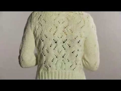#11 Eyelet Cable Cardigan, Vogue Knitting Winter 2008.09