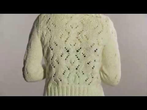 #11 Eyelet Cable Cardigan, Vogue Knitting Winter 2008.09