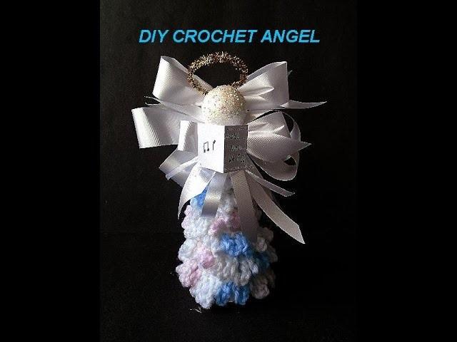 CROCHET ANGEL how to diy, transform crochet christmas tree into a Christmas angel
